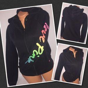 VS PINK Full zip hoodie crew SMALL